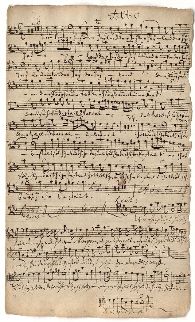 J. S. Bach, Cantatas BWV 62, 1724 ( Photo: St. Thomas Boys Choir Leipzig / Bach Archive Leipzig)