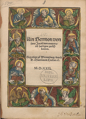 A Sermon of Sankt Jacob (Photo: Leipzig University Library))